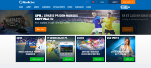 NordicBet webside
